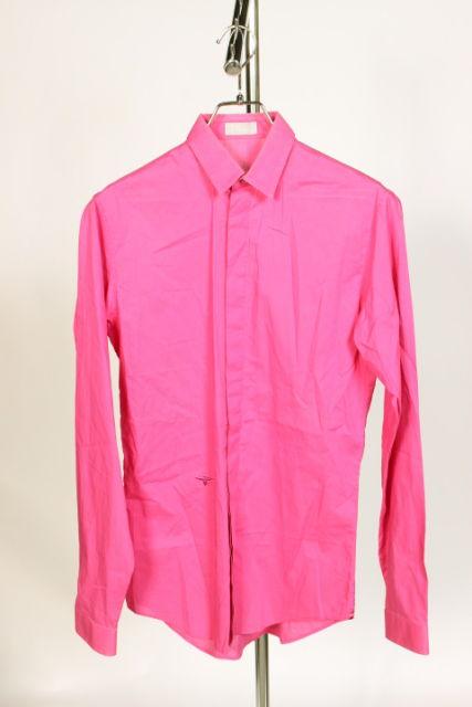 【新入荷!!】ディオールオム Bee刺繍立体プリーツシャツ[MSHO69963]【FF】【中古】【5400円以上のご購入で送料無料】