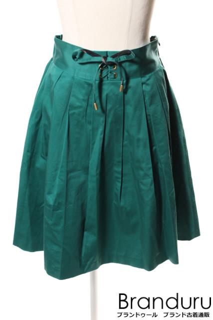 【7月31日に再値下げ!】ブルーレーベルクレストブリッジ 18SSレースアップサテンスカート[LSKP20903]【PP】【中古】【5400円以上のご購入で送料無料】