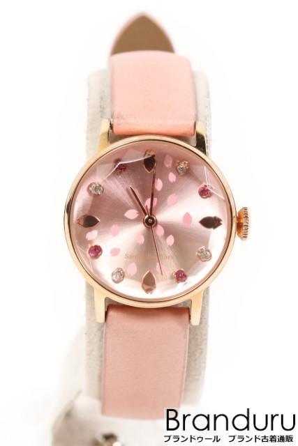 【7月6日に初値下げ!】サマンサティアラ 桜モチーフ腕時計[LWWP22172]【中古】【5400円以上のご購入で送料無料】