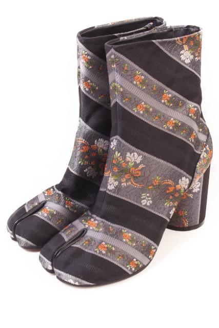 【新入荷!!】メゾンマルジェラ 17SSフラワージャガード足袋ブーツ[LFWP37173]【中古】【5400円以上のご購入で送料無料】