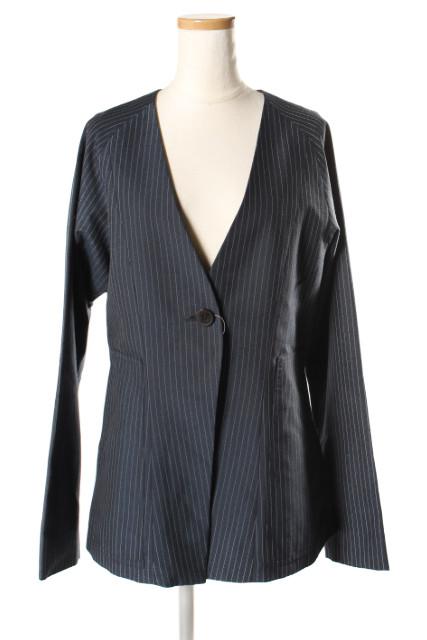 【3月22日に初値下げ!】ELINエリン 18SS Stripe 1b jacketストライプジャケット[LJKP66000]【FF】【中古】【5400円以上のご購入で送料無料】