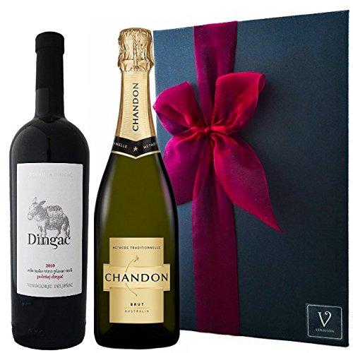 シャンドン ブリュット 正規品 & ディンガチ クロアチア・赤ワイン・辛口・フルボディ ワイン セットシャンパン  ギフト