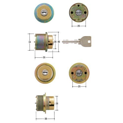 MIWA, 美和ロック 取替用シリンダー DCZZ0028 MCY-461 2個同一