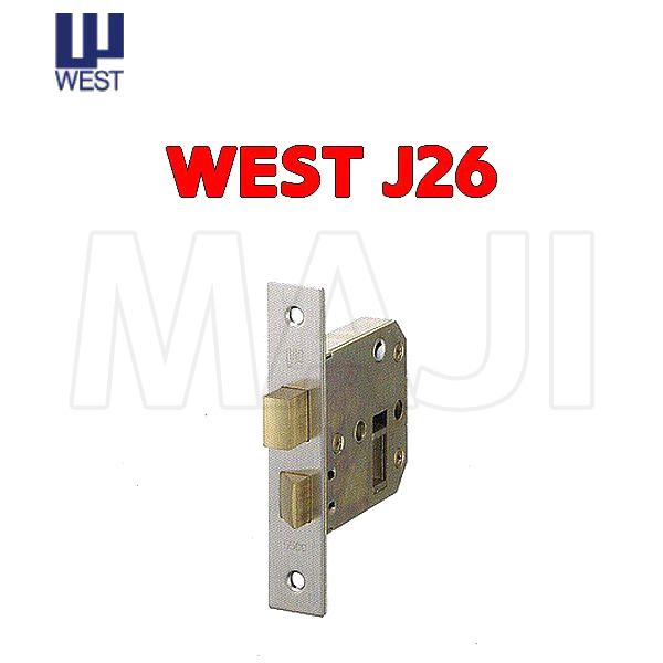 WEST 錠ケース J26-R0 捧呈 最安値挑戦 BS58mm ロックケース 交換 バックセット58mm J26 5500 J-26 取替え ウエスト