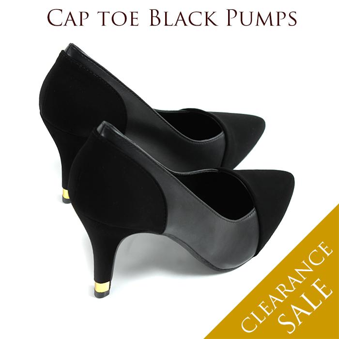 4047019bce81 Pumps high heel almond by color suede black legs foam 9 cm bi-color pumps FS -002979