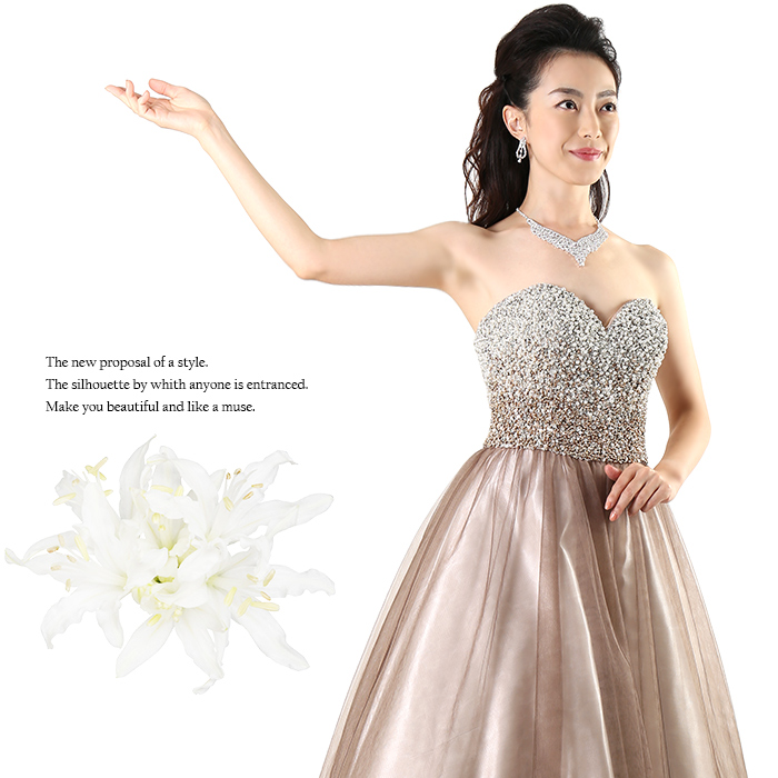 23fd23585975d 特別な一着。 演奏会 特別な日に.。.  激安 ロングドレス ・゜ ...
