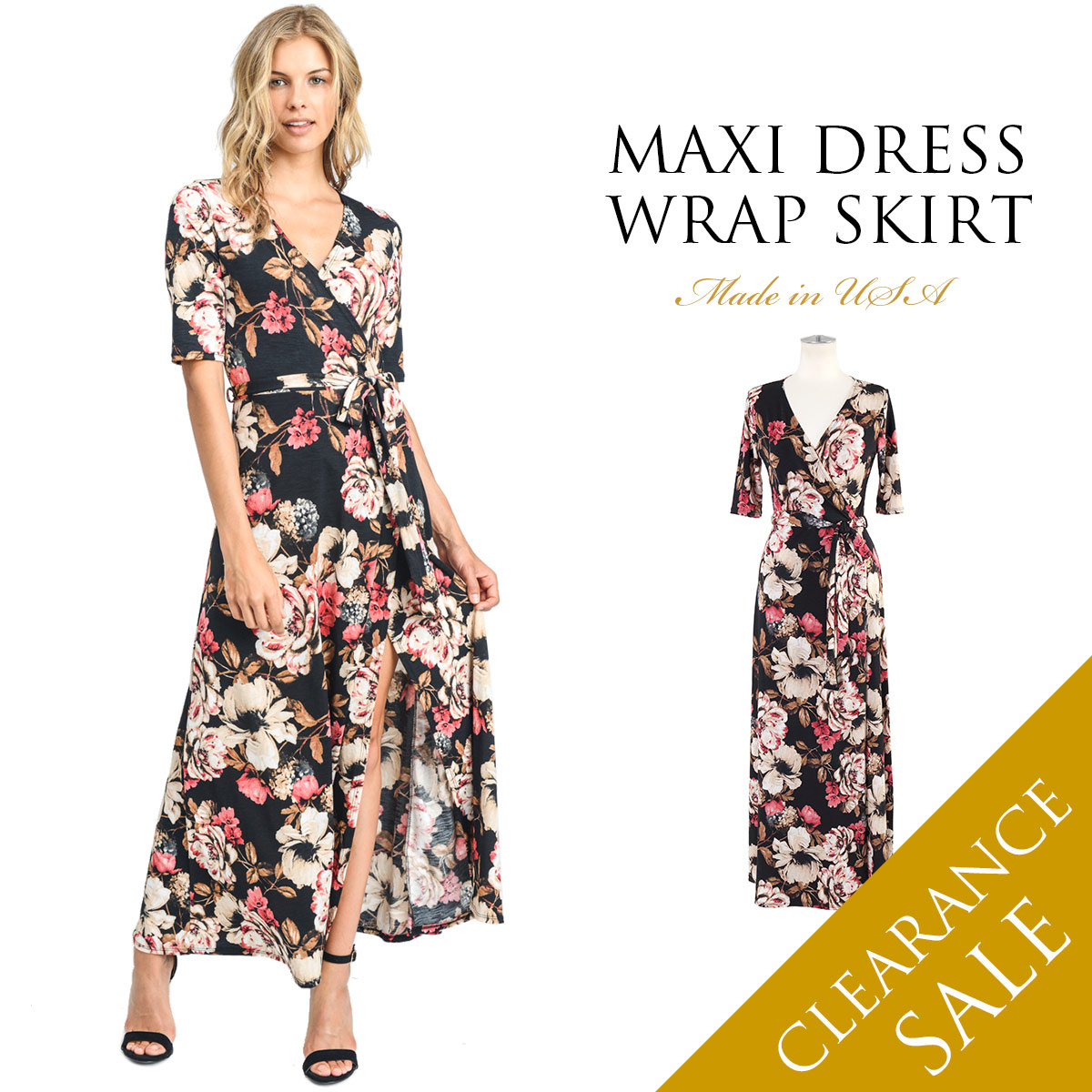 cc5c4937647 The maxi dress of the lap type. One piece that a feeling of flexible  omission is beautiful