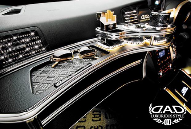 ギャルソン DAD 【 フロントテーブル · 標準仕様 ·】 日産 エルグランド 型式 E52 年式 H22/8- 後期対応可 · トレイデザイン&ウッドカラー:要選択 ドリンクホルダー部:スクエアタイプ ·