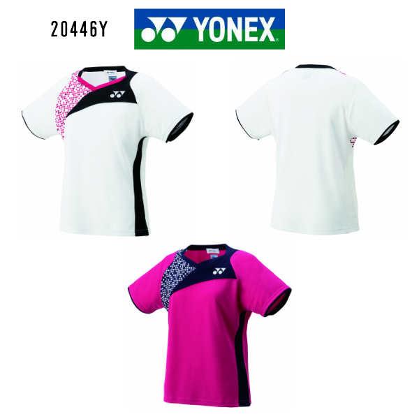 ヨネックス バドミントン レディース ゲームシャツ 20446Y ホワイト ダークピンク S~XO 再春館製薬モデル 大感謝祭