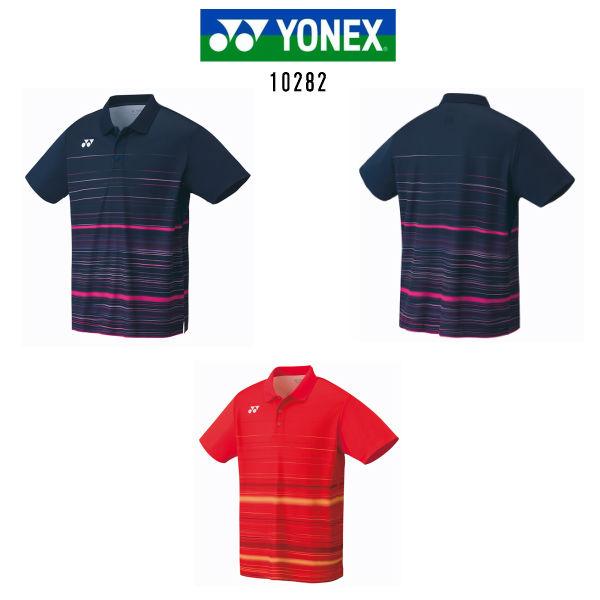 ヨネックス ゲームシャツ フィットスタイル ネイビーブルー ファイヤーレッド M L O 10282 数量限定 大感謝祭