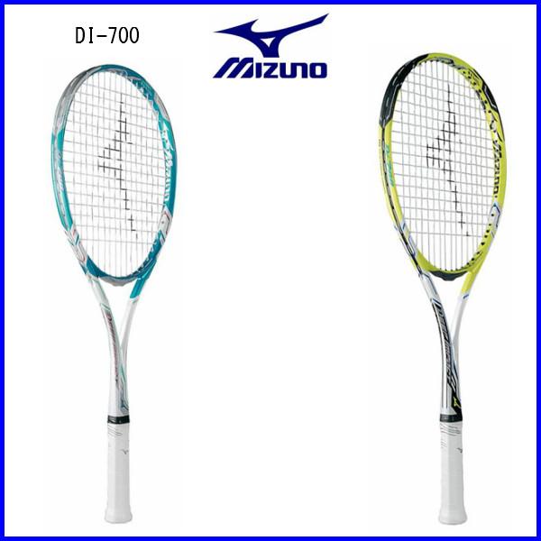 ミズノ ソフトテニスラケット ディーアイ700 63JTN747 ホワイト×ターコイズ ホワイト×ライム 00AU 軽量178g オールランドモデル