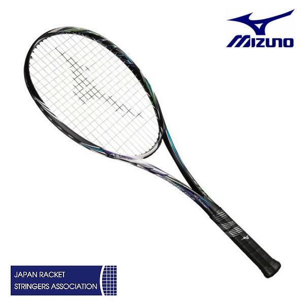 ミズノ スカッド01-C ハイブリッドブラック/ブルーパープル 0U 1U 63JTN85467 ソフトテニスラケット 前衛特化型