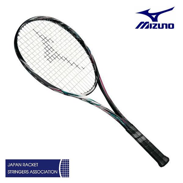 ミズノ スカッド05-C ハイブリッドブラック/ネオンマゼンタ 00X 0U 1U 63JTN85664 ソフトテニスラケット 前衛特化型