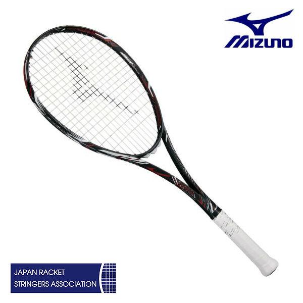 ミズノ ディオス10-R ハイブリッドブラック/フューチャーレッド 00U 0U 63JTN86362 ソフトテニス ラケット 後衛特化型