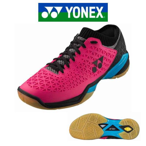 あす楽 バドミントン シューズ ヨネックス YONEX パワークッションエクリプションZ SHBELSZ ピンク/ブルー 3E 幅広 注目