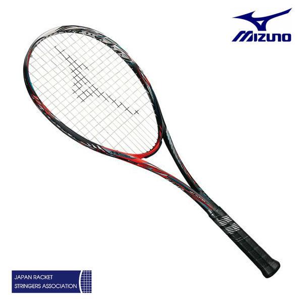 ミズノ スカッド01-R 63JTN95362 ソリッドブラック/バーニングレッド 0U 1U ソフトテニスラケット 前衛特化型