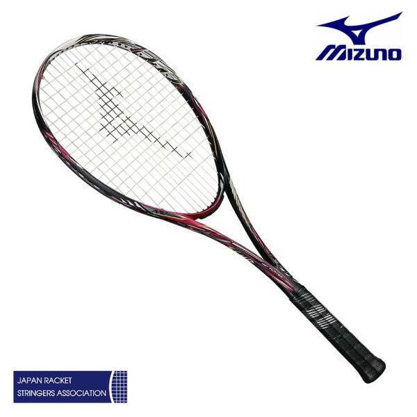 ミズノ スカッド05-R 63JTN95564 ソリッドブラック/ロイヤルマゼンダ 00X 0U 1U ソフトテニス ラケット 前衛特化型