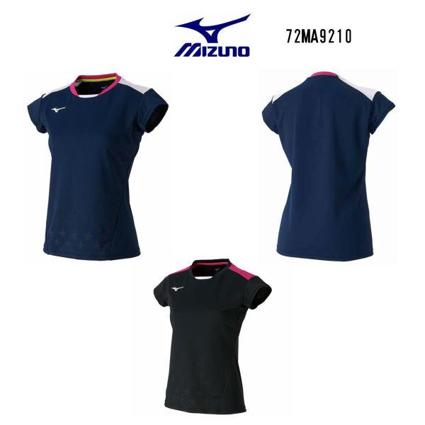 ミズノ レディース ゲームシャツ ブラック ドレスネイビー S M L XL 72MA9210 大感謝祭