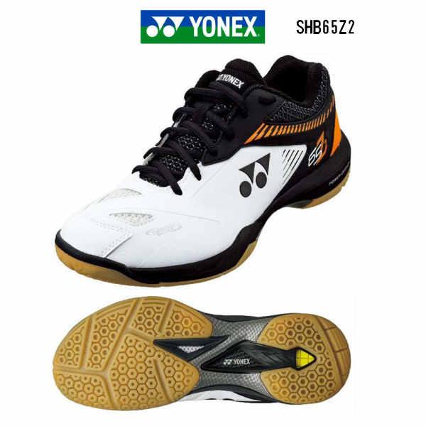 【クーポンで500円OFF】 あす楽 YONEX バドミントンシューズ ヨネックス パワークッション65Z2 SHB65Z2 ホワイト/オレンジ 3E 幅広 注目