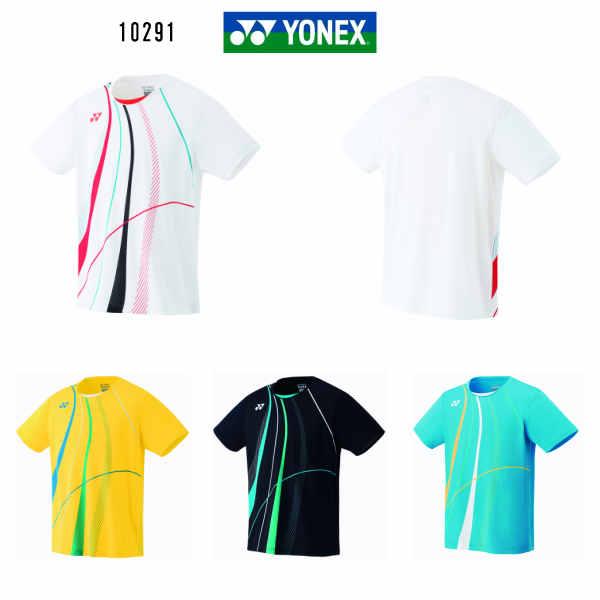 ヨネックス YONEX メンズ ゲームシャツ フィットスタイル 10291 ホワイト イエロー ブラック マリンブルー M L O 大感謝祭
