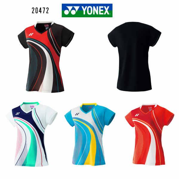 ヨネックス YONEX レディース ゲームシャツ 20472 ブラック ホワイト マリンブルー ファイヤーレッド M L O 大感謝祭