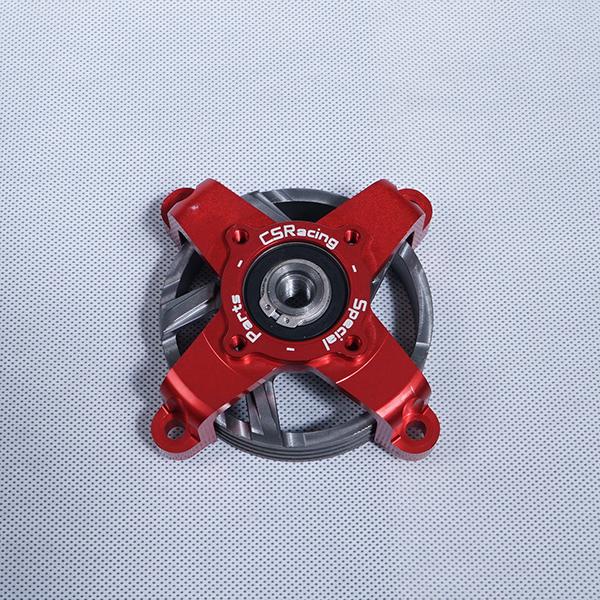 CS RACING ベルハウス超々ジェラルミン製ベル D78/ 赤色 Ergal Bell House + Ventilated Bell D78 red