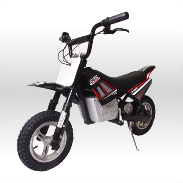 250W搭載電動ポケバイ モトクロスモデル ダートバイクタイプポケットバイク ブラック CR-DBE01
