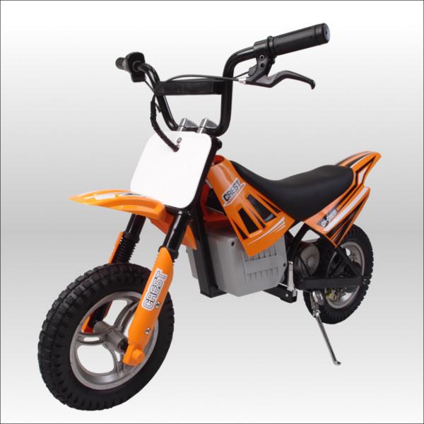 250W搭載電動ポケバイ モトクロスモデル ダートバイクタイプポケットバイク オレンジ CR-DBE01
