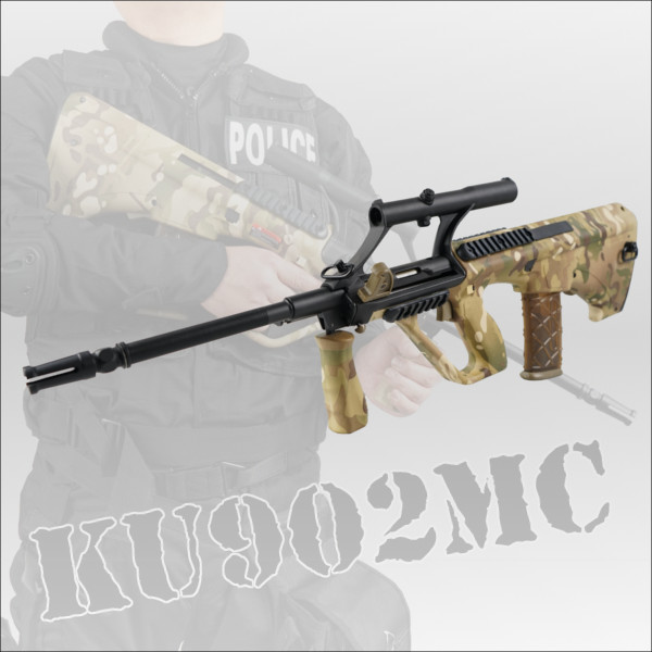 APS ステアーAUG A1 Military Model with Adjustable Scope Multicam 電動ガン KU-902 エアガン ミリタリー