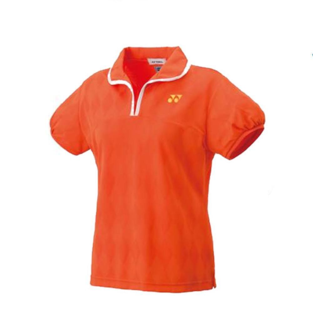 数量限定 アウトレット ヨネックス YONEX バドミントン テニス ウィメンズゲームシャツ オレンジ L 005 20437 メーカー公式 初回限定 - スリム