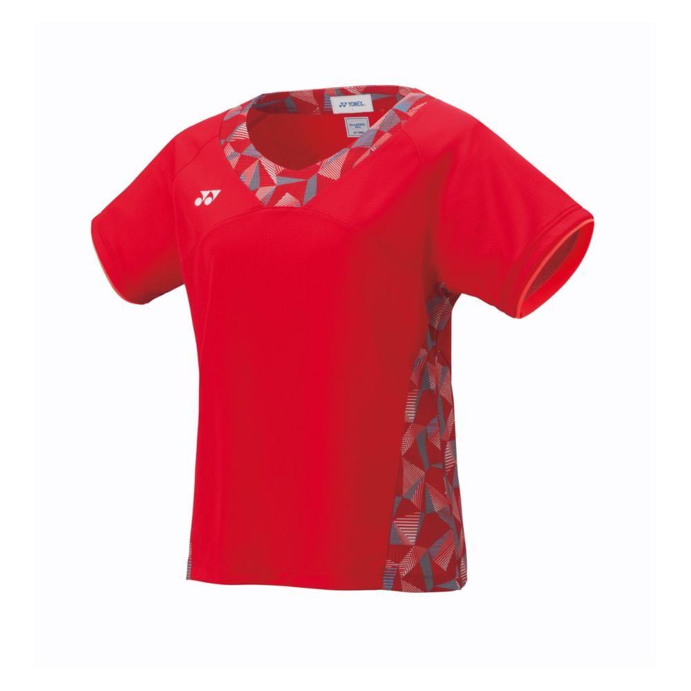 数量限定 アウトレット 毎日がバーゲンセール ヨネックス YONEX バドミントン テニス 価格 交渉 送料無料 ウィメンズゲームシャツ M 496 - サンセットレッド 20481 スリム