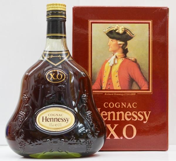 【中古・未開栓】Hennessy XO ヘネシー 700ml グリーンボトル 古酒 洋酒 コニャック ブランデー 00876