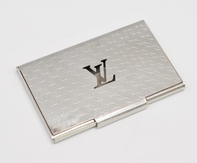 【中古】LOUIS VUITTON ルイヴィトン M65227 ポルトカルト シャンゼリゼ カードケース 名刺入れ ステンレス ブランド ビジネUSED-B 箱無 01703