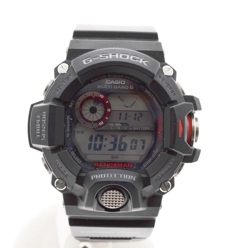 【中古】G-SHOCK Gショック ジーショック GW-9400-1 RANGEMAN レンジマン デジタル腕時計 電波 ソーラー ソーラー電池 デジタル液晶 防水 メンズ時計 USED-AB 01778