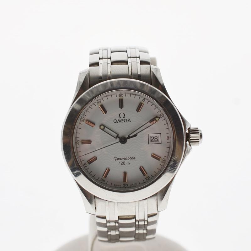 【中古】OMEGA シーマスター 120m メンズ腕時計 デイト クォーツ SS シルバー文字盤 2511.31 USED-BC 02057