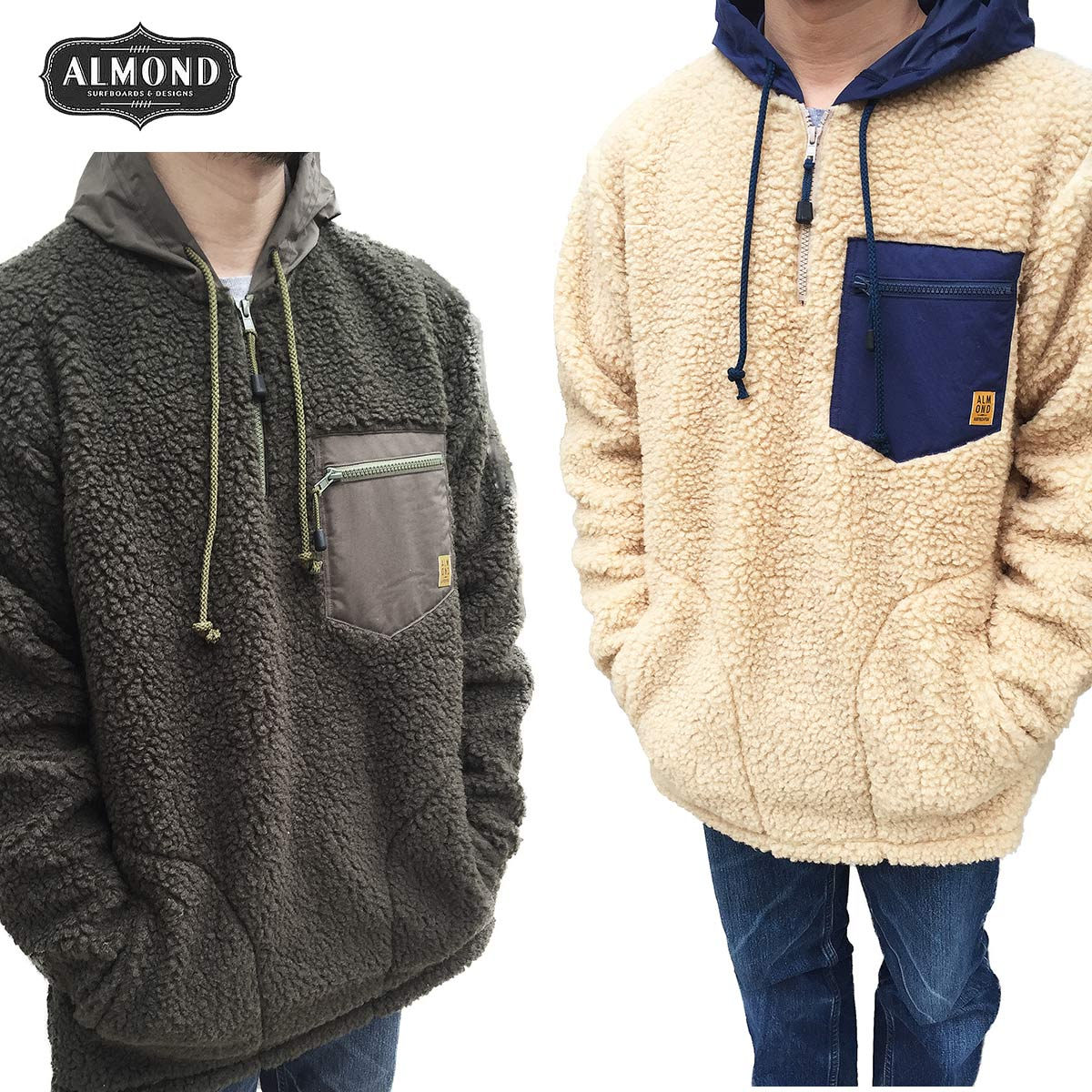 Almond Surfboards & Design ボアフリースプルオーバー ALMOND BOA JACKET