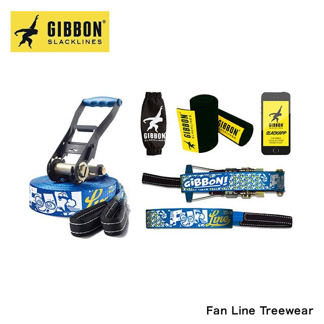 GIBBON ギボン SLACKLINE スラックライン FUN LINE TREEWEAR 15M ファンライン ツリーウェア 15メートル 初心者 子ども向け バランス 体幹 フィットネス