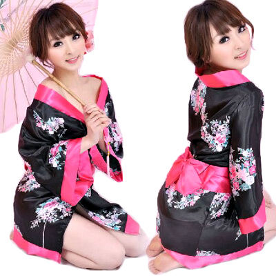 コスプレ 着物 着物ミニ 花魁 ドレス 和服 ゆかた 衣装 コスチューム ミニ丈 和柄