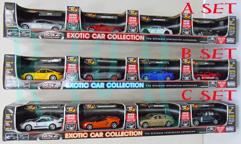 MSZ VROOM TECH exotic car collection 4 set diecast cars / set / name cars / cars / car / day