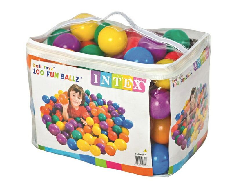 ☆送料無料☆ 当日発送可能 送料無料 INTEX ボールプール用ファンボール100個セット 直径約8cm 定価の67%OFF 収納バッグ入り