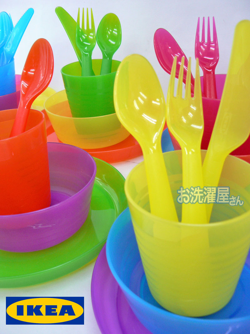 Colorful Ikea Dinnerware Set 36 Piece For Baby And Kids