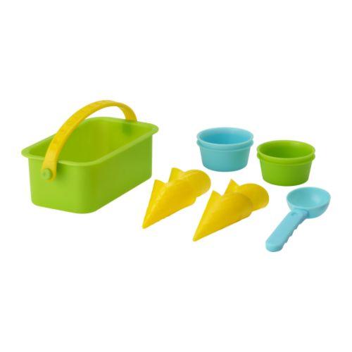 IKEA沙子游戏玩具的冰激凌安排10分(茶杯/圆锥/冰服务器/篮球)沙子游戏/冰激凌店铺宜家