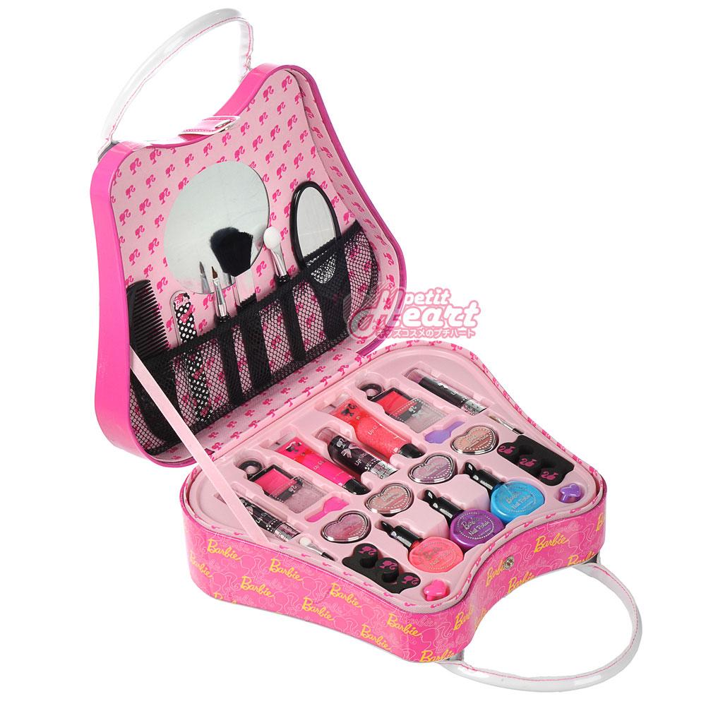 孩子們的美麗的芭比娃娃案例粉紅色 / 白孩子化妝套 ! 刷爆 / 虛榮袋 / 化妝品 /Barbie / 孩子消耗