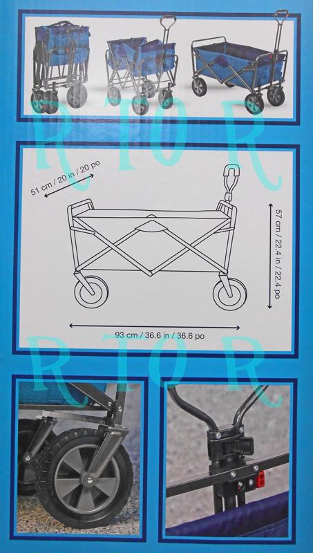 대형 접이식 웨건/카트/차체를 지탱하는 부분 Collapsible WAGON (최대 하중 약 45.3 kg)