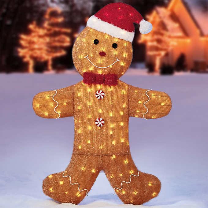 【送料無料】LED ジンジャーブレッドマン 約147cm LED150球/クリスマス イルミネーション