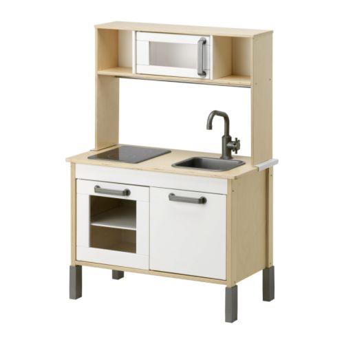 IKEA DUKTIG【おままごとキッチン】木製ミニキッチン♪おままごと/ごっこ遊び/お料理/水道/IHコンロ/電子レンジ/イケア