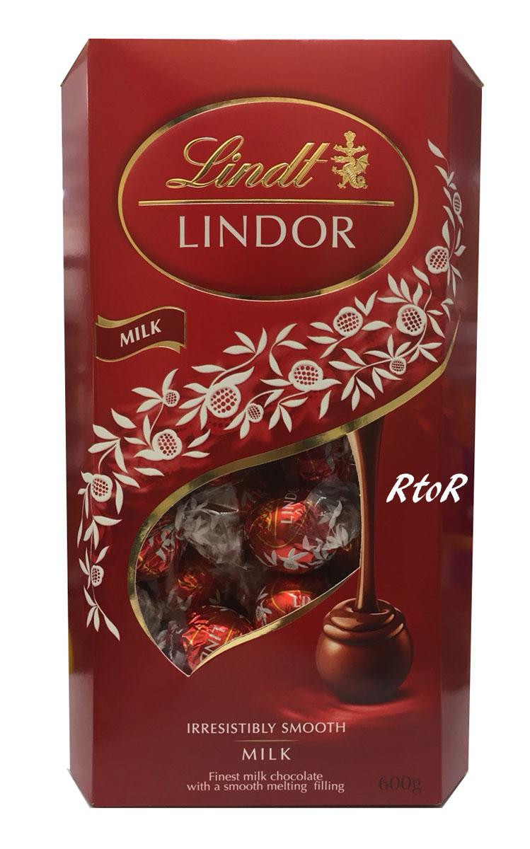 18%OFF 商舗 リンツ リンドール ミルク トリュフチョコレート 約50個入り 赤 ビッグサイズ600g