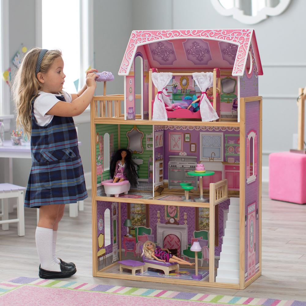 KIDKRAFT 木製ドールハウスセット 3階建て「AVA DOLLHOUSE」家具10点付き♪キッドクラフト/アヴァ/アウァ 73cm×40cm×高さ114cm ※同梱・沖縄・離島発送不可