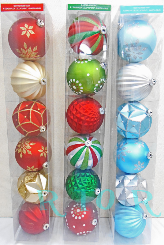 large christmas ornaments and snow crystals balllameplastic