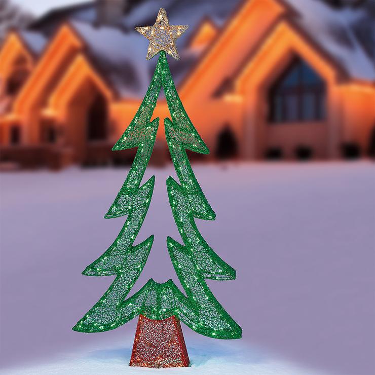 【送料無料】LED グリーン ジグザグ クリスマスツリー 約182cm LED250球 /クリスマス イルミネーション